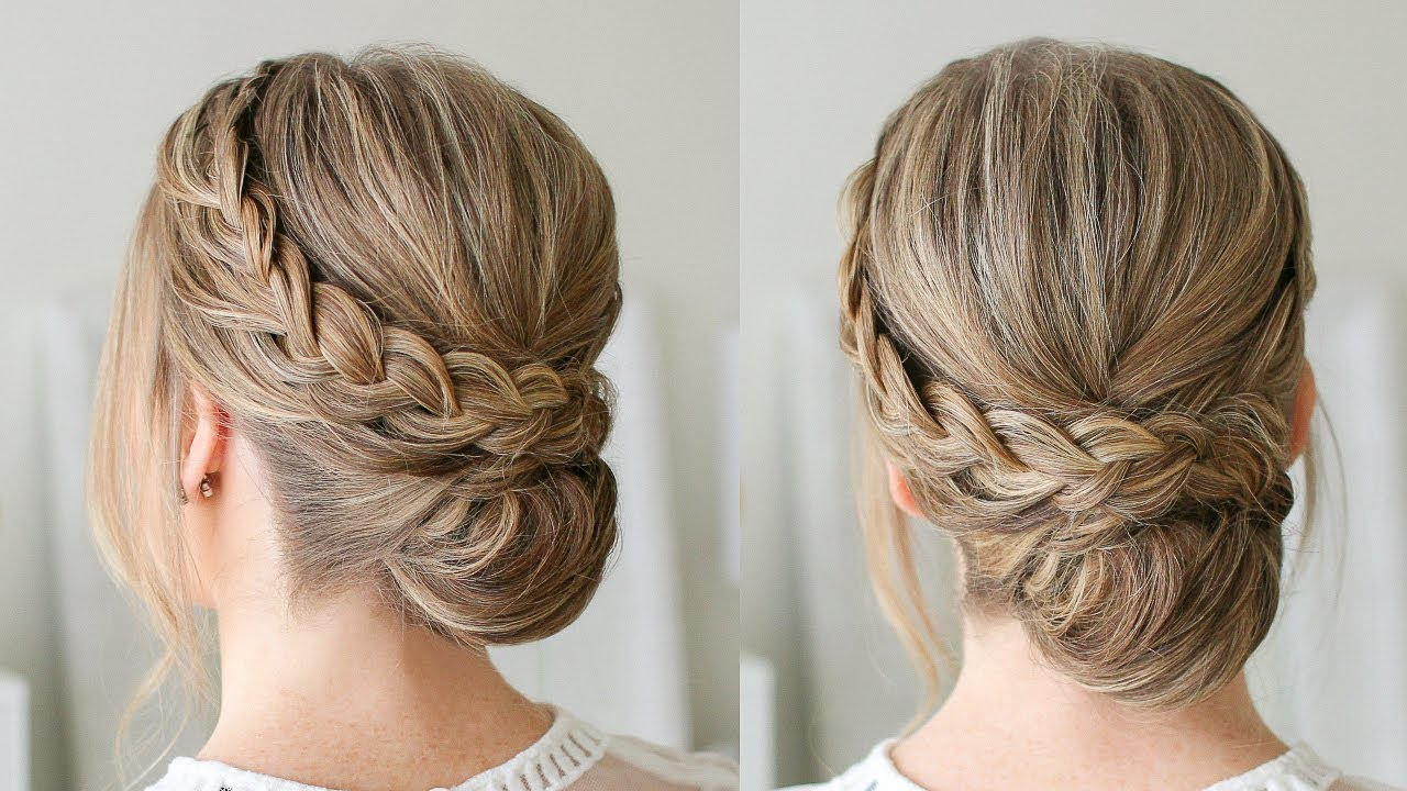 hair style of bun braid wrapped roll bun sue 6565