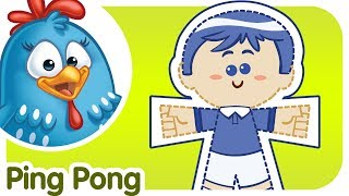 Ping Pong - Lottie Dottie Chicken - Kids songs and nursery rhymes in english