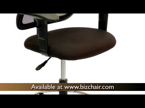 biz chair com old fashioned rocking nursery mesh mid back drafting stool with fabric seat wl a277 bk d gg youtube