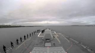 USS Jason Dunham Enters Kiel Germany: June 19, 2015