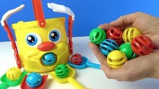 Mr Bucket Kovala Topları Yakala Eğlenceli Çocuk Oyunu Azra ve Selim Challenge