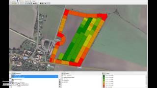 Vypínání sekcí Trimble Field-IQ - animovaný záznam aplikace v softwaru Farm Works Mapping
