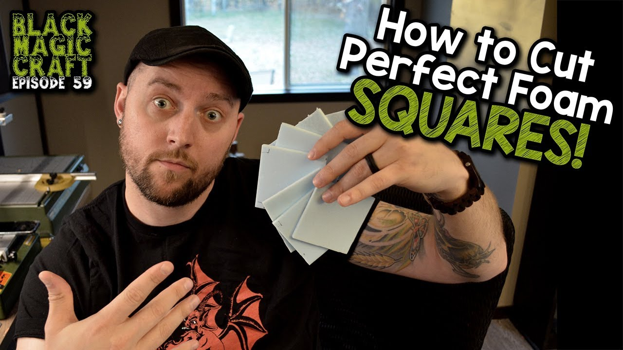How to Cut Perfect Foam Squares for Dungeon Tiles (Black Magic Craft  Episode 059)