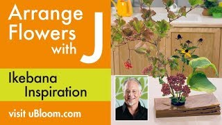 How To Arrange Flowers:  Ikebana Flower Arrangement!
