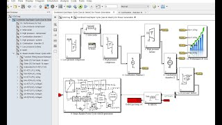 Combined Gas & Vapour Cycles for Power Generation | Matlab | Simulink Model