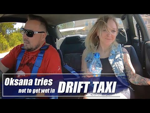Oksana Tries Not To Get Wet In Drift Taxi