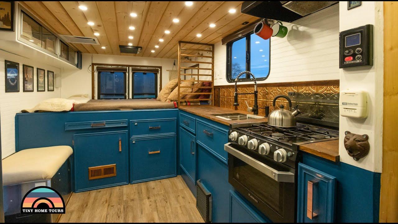 DIY 4x4 Ambulance Tiny House W/ Shower Toilet & Hot Tub - Overlanding Rig