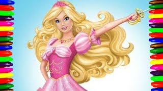 Disney BARBIE and The Three Musketeers Coloring Pages for kids Videos| Children Learning Colors
