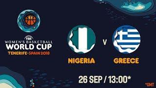 LIVE 🔴 - Nigeria v Greece - FIBA Women's Basketball World Cup 2018 (Geo-Rest.)