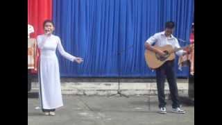 Nếu như anh đến- sáng tác: Nguyễn Đức Cường thể hiện Bảo Ngân 10B3 guitar cover Tri Tâm 11B4