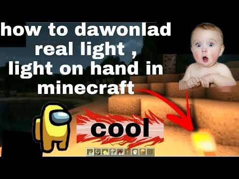 Download How to dawonlad real light on hand in minecraft🥰🥰🤩🤩🤩
