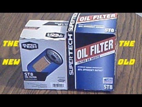 Walmart SuperTech ST8 Oil Filter And The Previous SuperTech ST8 Oil Filter Cut Open