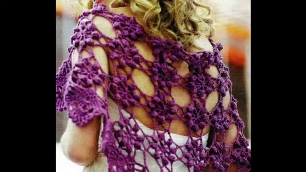 Chal Flores Circulares Calado a crochet - YouTube