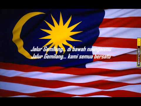 Jalur Gemilang with lyrics 1) - YouTube