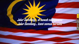 Jalur Gemilang with lyrics 1)