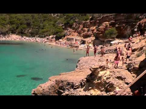 Ibiza Best Beaches, Cala Salada near San Antonio with chill out