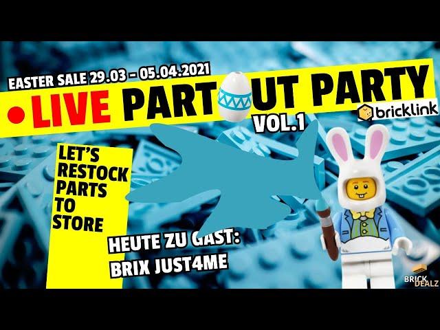🔴 LIVE Part Out Party| VOL. 1 | mit BRIX JUST4ME