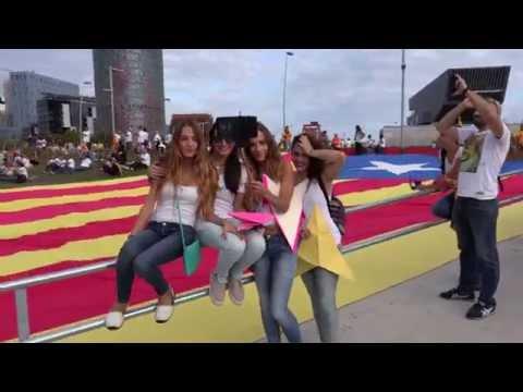 FREE WAY TO THE CATALAN REPUBLIC UHD 4K - VIA LLIURE 2015 UHD 4K