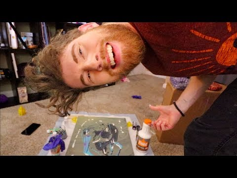 TRYING PAINT POURING!