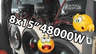 """8x15"""" 48000W +160dB Fiat Punto DD Audio Soundigital #puntodemobuild"""