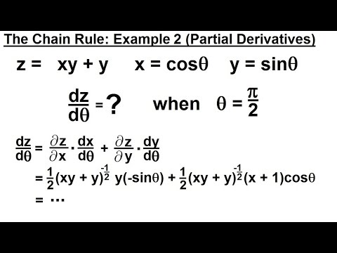 Calculus 3 Partial Derivative 26 Of 50 The Chain Rule Example 2