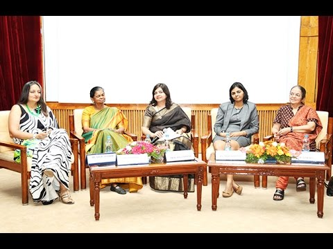 Panel discussion at the 2nd Annual Women Leadership Summit at IIMB