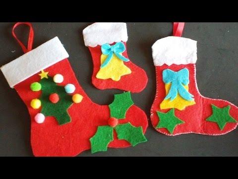 Botas Navidad En Fieltro Youtube