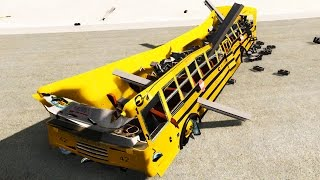 🚗 New Blue Bird Schoolbus TC2000 Crash Testing - BeamNG.Drive