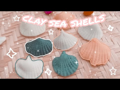 Sea Shells Using Homemade Airdry Clay Without Mould || Sea Shells || Clay Sea Shells Tutorial ||