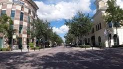 Driving around Baldwin Park master-planned community in Orlando, Florida
