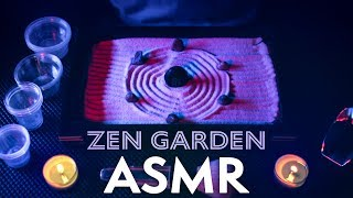 ASMR ZEN GARDEN, Sand & Cups 🕯️Low Candle Light for SLEEP 😴NO TALKING