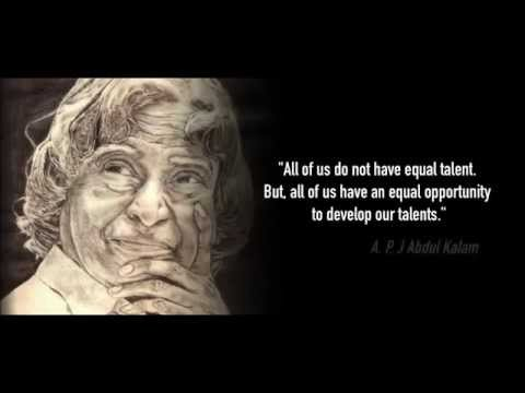 Dr APJ Abdul Kalam's life and his contribution to India's development.