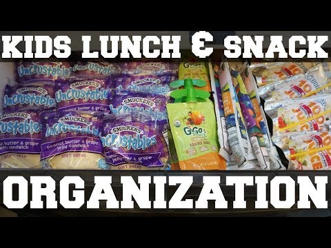 KIDS LUNCH & SNACK ORGANIZATION | BACK TO SCHOOL