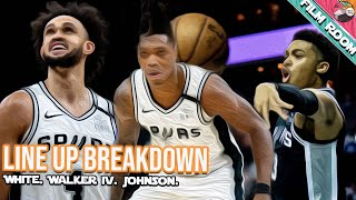 Derrick White. Lonnie Walker IV. Keldon Johnson. Vs Nets : Part 1 : Film Room
