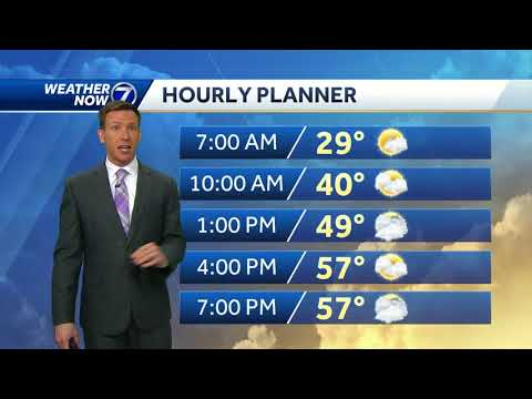 Warmer with less sun Tuesday, rain changes to snow early Wednesday