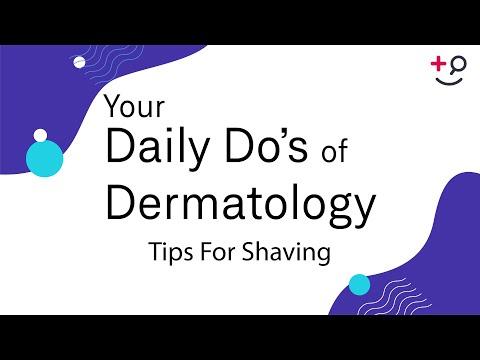 Tips For Shaving Daily Do's of Dermatology