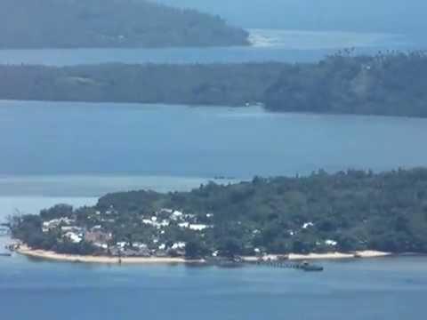 Bunaken, Manado Tua, Siladen, Mantehage, dan Nain dari ketinggian Kota Manado