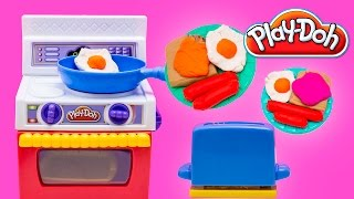 Play Doh Kitchen Fried eggs bacon breakfast