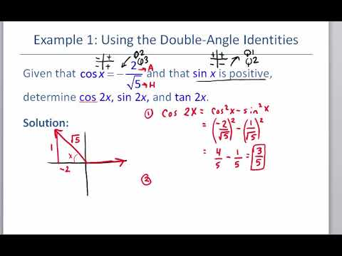 Math 127 Section 7.3 Double Angle znd Power Reducing Identities