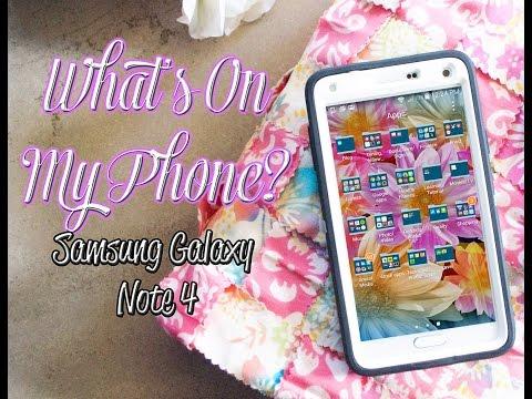 What's On My Phone? Samsung Galaxy Note 4 | Honey Kahoohanohano