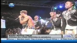 Kigoma all stars perform in Mombasa in Radio Maisha fans treat