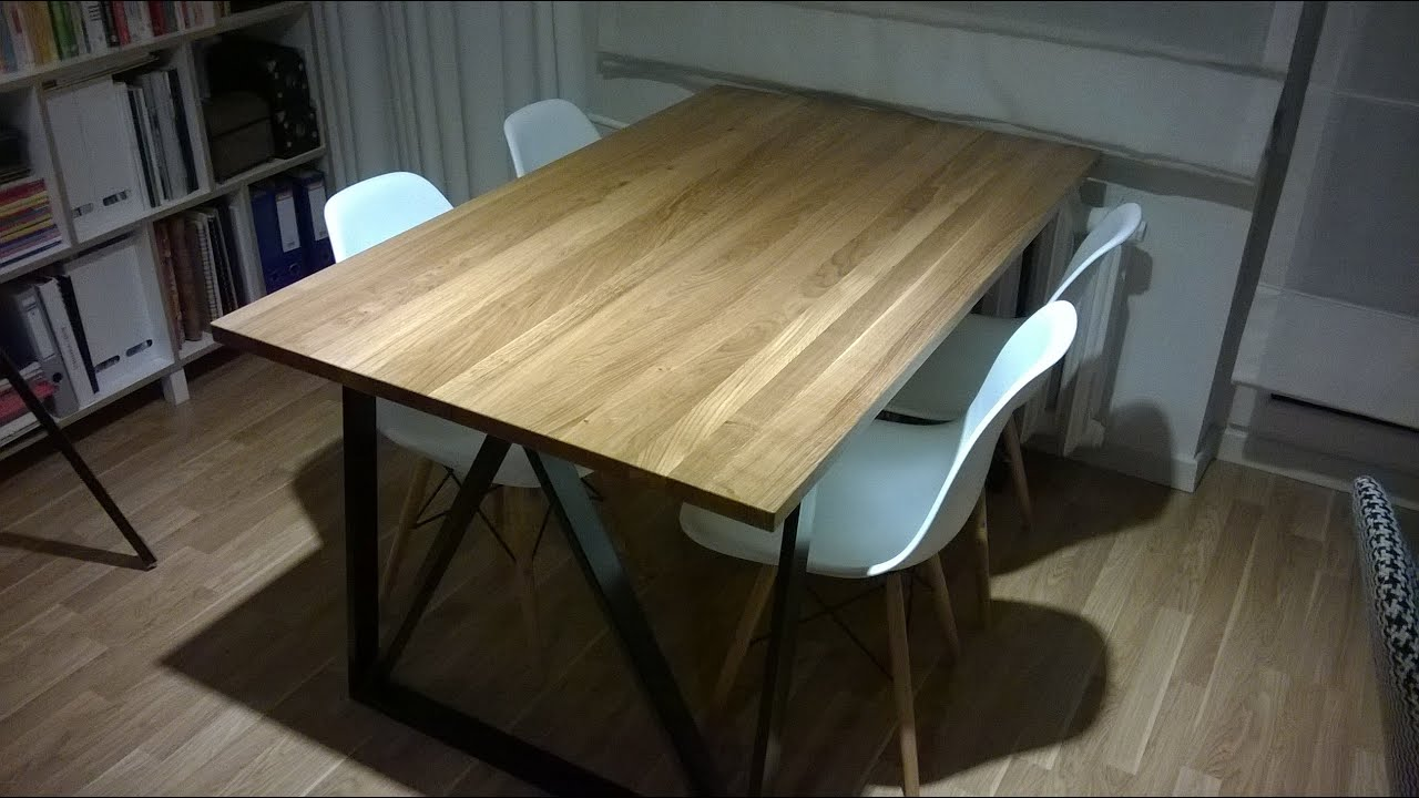 jak zrobi st do jadalni dining table youtube. Black Bedroom Furniture Sets. Home Design Ideas