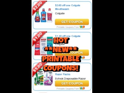 Hot New Printable Coupons:  Colgate & Schick!  Get yours now!