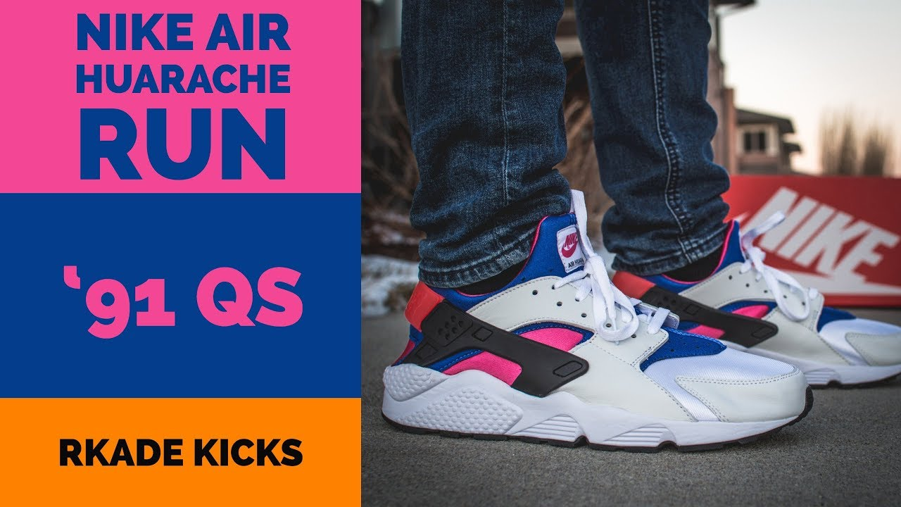 04038acec23e9 Nike Air Huarache Run  91 QS - YouTube