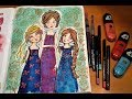 ❤️In the #JDMM Whimsical Girls Art Journal/ Coloring Book