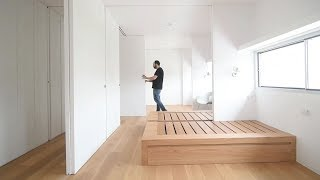 create functional space with wooden movable sliding walls and this of wooden movable sliding walls and partitions that are