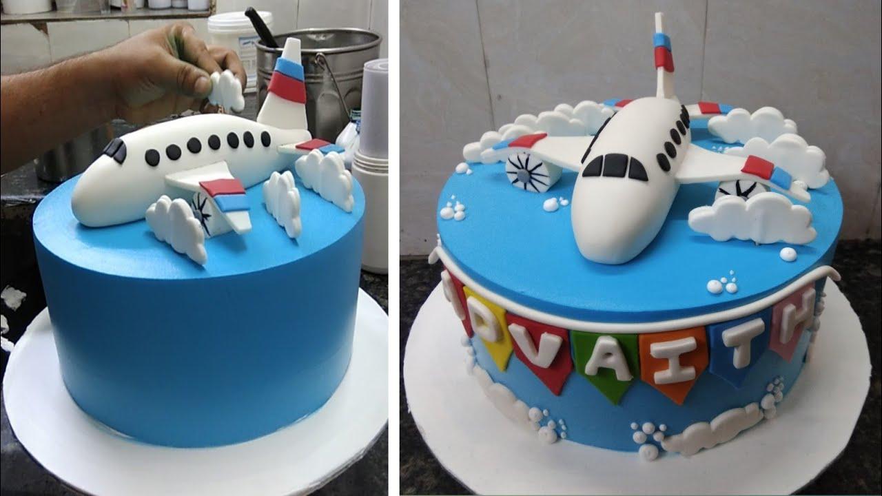 Aeroplane Cake Recipe |Aeroplane Cake Design |Flight Cake Design |New Cake Wala