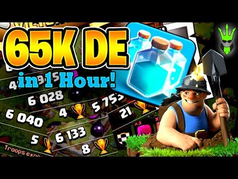 65K DARK ELIXIR IN 1 HOUR WITH CLONED MINERS?! - Let's Play TH12 - Clash of Clans