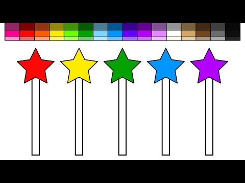Thumbnail: Learn Colors for Kids and Color Magic Wand Stars Coloring Pages