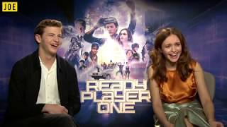Tye Sheridan and Olivia Cooke get emotional talking about selfie-sticks and